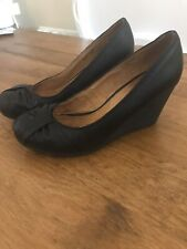 Dorothy Perkins Black Wedge Shoes Size 7