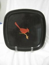 """Vintage Couroc Cardinal Tray Plate 8.5"""" Mid Century Modern"""