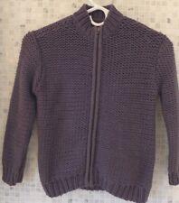 Boys Tea Collecton Dark Grey zippered sweater Size 6 Euc cardigan jacket