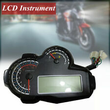 1x 12V LCD Universal Motorcycle Speedometer Odometer Oil Level  Speed Fuel Gauge