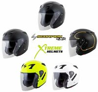 Scorpion EXO-CT220 Helmet Open Face 3/4 Inner Sun Shield DOT Approved XS-3XL