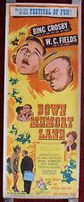 Down Memory Lane 1949 Original 14x36 Rolled Poster Bing Crosby, W.C. Fields