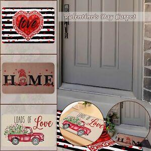 Valentine's Day Decoration Doormat Anti-skid Bottom Floor Indoor Outdoor Carpets