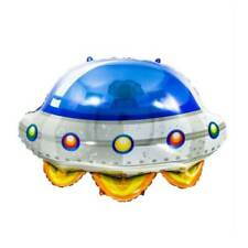 """34"""" Flying Saucer Shaped Foil Balloon Outer Space UFO Rocket Spaceship Party"""