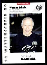 Werner Scholz Autogrammkarte SG Wattenscheid 09 2000-01 Original Sign+A 118655