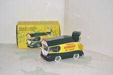 """CIJ Norev 1/50. Renault 1400 kg """"Savon le Chat"""" caravane TDF 1952. Réf. C50200."""
