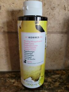 Korres Ginger Lime Showergel W/ Organic Althea Extract 8.45oz New Unsealed Natur