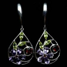Snap Closure Not Enhanced Amethyst Fine Earrings