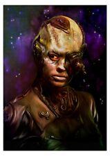 star trek queen borg  a5  original print.artwork.by paul winters