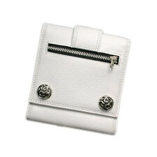 Trifold Leather Wallet -Sterling Silver Snaps Wt Tribal