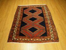 Antique1930s  4.2 x 5.4 High Quality Handmade Persian Malayer Fine Soft Wool Rug