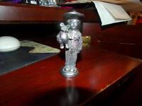 Michael Ricker Pewter Metal Boy with Teddy Bear Figurine