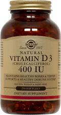 Solgar Vitamin D3 Cholecalciferol 400 IU 250 Softgels