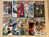 MARVEL FANFARE COMICS LOT #1-6 10 Black Widow 52 RARE NEWSSTAND X-men Spider-Man