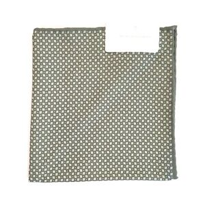 BRUNELLO CUCINELLI Silk Cotton Print Handkerchief Pocket Square Green -MSRP $195