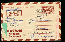 3,40 Aerogramm 1962 aus Wien nach Bremen   9/11/15
