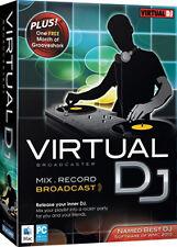 NEW Virtual DJ Broadcaster for Mac/Windows 26630-SLV Mix/Record Best DJ Software