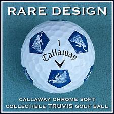 (1) RARE DESIGN Callaway Chrome Soft Collectible TRUVIS White & BLUE Golf BALL