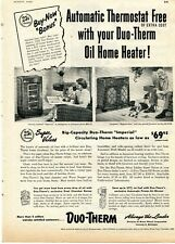 1952 Print Ad of Motor Wheel Corp Duo-Therm Imperial & Hepplewhite Oil Heater