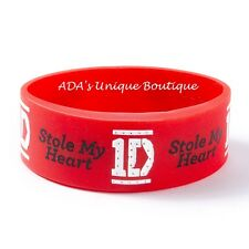 One Direction 1D Names Blingkers Light-Up Red Rubber Bracelet Stole My Heart NWT