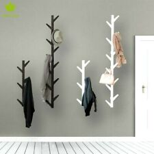 Bamboo Wooden Wall Hooks Coat Rack Hanging Clothes Hanger Home Shelf Decoration