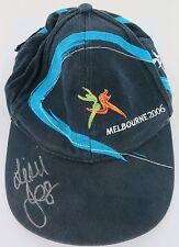 LEISEL JONES SIGNED MELBOURNE COMM GAMES 2006 OFFICIAL CAP. GOLD MEDAL WINNER