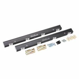 Edelbrock Fuel Injection Fuel Rail -6 AN Black for Chevrolet LS Victor EFI 3638