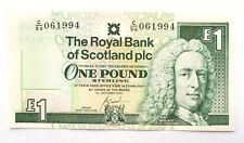 £1 Banknote Royal Bank Of Scotland One Pound Birthday Gift Idea UNC
