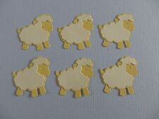 Sheep Die Cuts.   Sets of 6.  Pretty in Lemon & Cream.  See other Colors.  NEW.