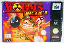 Worms Armageddon-completamente in scatola originale Nintendo 64 n64 Boxed cib