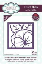 CREATIVE EXPRESSIONS Sue Wilson FRAMES & TAGS Pansy Flower Square CED4377 2 Dies