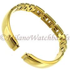 8mm Glam Rock High Quality Elegant Shiny Gold Tone Ladies Watch Band GBBG01SY