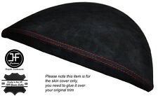 RED STITCH SPEEDO GAUGE HOOD SUEDE SKIN COVER FITS BMW 1 SERIES E81 E82 E87