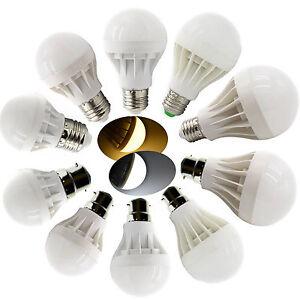 E27 B22 Bayonet LED Globe Light Energy Saving Bulb 3W 5W 7W 9W 12W Lamp 220-240V
