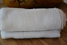 Antique Rustic Hemp Sheet Material Homespun C. 1880 2 Centre Seams Upholstery