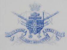 05E27 ANCIENNE ASSIETTE DE SOCIÉTÉ ROYALE LES FRANCS ARBALÉTRIERS YPRES 1855