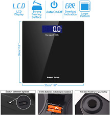 Weight Scale, SmarTake Precision Digital Body Bathroom Scale with Step-On Techno
