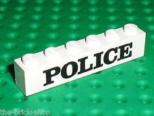 LEGO VINTAGE brick 1 x 6 w. POLICE Pattern 3009px10 / Set 354 560 585 370 ...