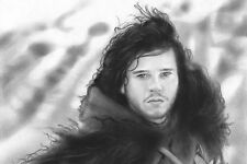 """Game Of Thrones Jon Snow 20x30"""" Stretched Canvas Art Print"""