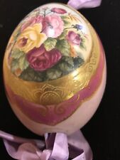 Imperial Russia Easter Egg Porcelain Hand Painted