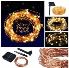 Solar Powered 10m/33ft100LED Copper Wire Outdoor String Fairy Light Warm White