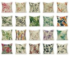 Vintage Botanical Cover Cushion Floral Leaves Decorative Pillows Cases