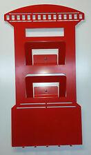 Leaflet Holder  Magazine Wall Rack Organiser Storage Solution Metal Red 2 Tier