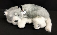 Perfect Petzzz Dog Alaskan Husky Plush Breathing w/Tag & Battery Stuffed Animal