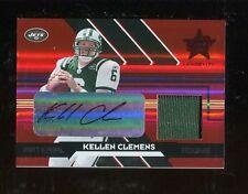 2006 Leaf Rookies & Stars Longevity Ruby Kellen Clemens Autograph JSY /50 Jets