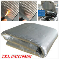 Car Engine Bonnet Acoustic Insulation Deadening Heat Shield Floor Mat 10mm 1X1.4
