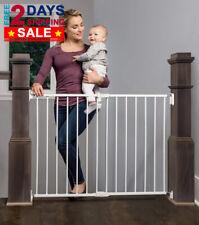 PREMIUM Extra Wide Walk Thru Safety Gate Pet Dog Toddler Child Stairs Through