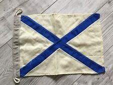 Rare !!!! Russia Navy Flag Fleet Original Wool Soviet