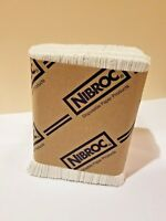 """Dispenser Napkins Tall Fold 7x13 1/2"""" White Nibroc Lot of 250 Made in USA NEW"""