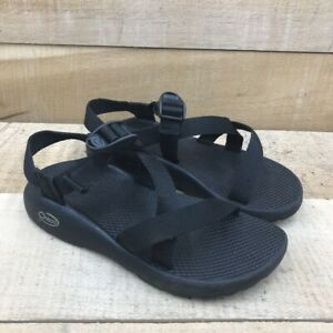 Chaco Womens Strappy Sandals Black Adjustable Buckle 7